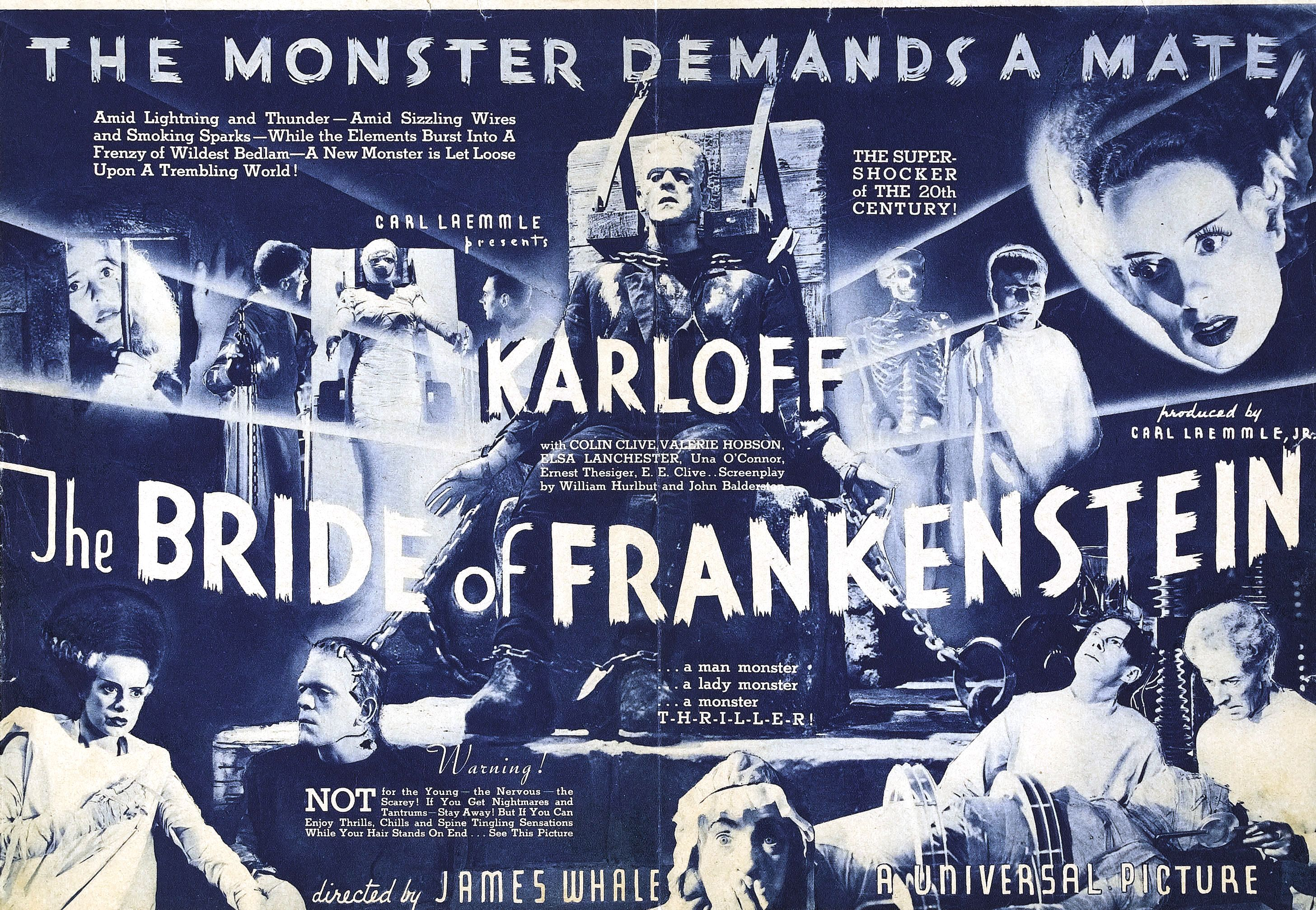 here comes the blushing� � the bride of frankenstein 1935