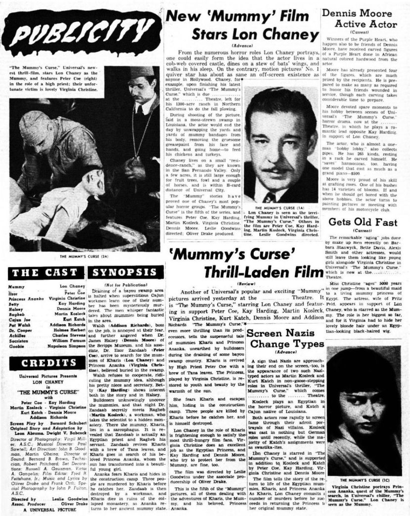 The Mummy's Curse67