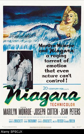 BPBCJX MARILYN MONROE US FILM POSTER NIAGARA (1953)