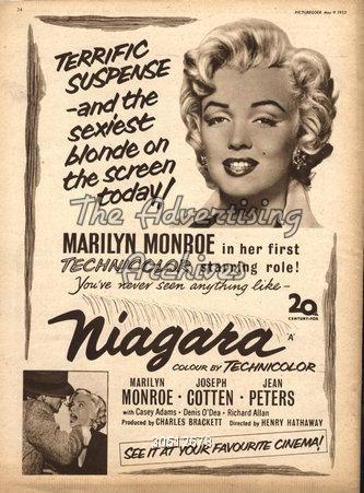 1950s UK Niagara Film Poster