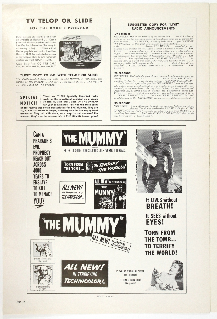 The Mummy 1959-84