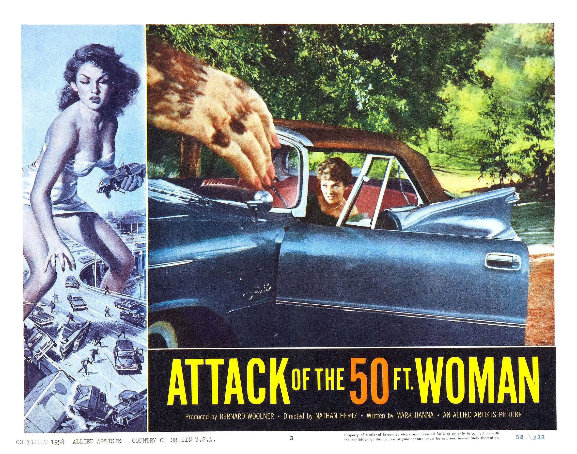 attack of the 50 foot woman Looking for movie tickets enter your location to see which movie theaters are  playing attack of the 50 foot woman (1958) near you enter city, state or .