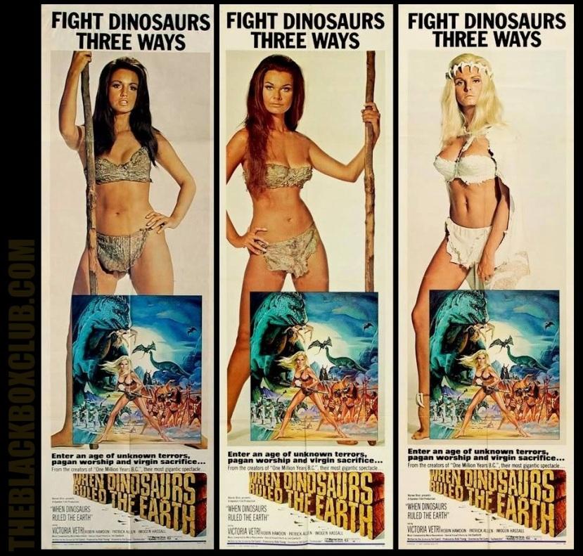 HAMMER FILM PRODUCTIONS: 'WHEN DINOSAURS RULED THE EARTH' 1970 VICTORIA VETRI  THEBLACKBOXCUB.COM