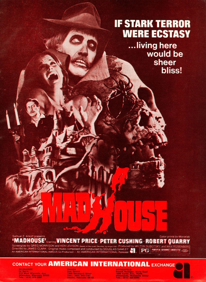 Madhouse Official Trailer #1 - Vincent Price Movie (1974) HD - YouTube