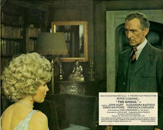 TYBURN FILM PRODUCTIONS 'THE GHOUL' (1975) Peter Cushing (Dr Lawrence), Alexandra Bastedo (Angela), Veronica Carlson (Daphne Wells-Hunter), John Hurt (Tom Rawlings), Gwen Watford (Ayah), Stewart Bevan (Billy), Ian McCulloch (Geoffrey), Don Henderson (The Ghoul)